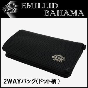 エミリッドバハマ 2WAY バッグ クラッチ/ショルダー ドット柄 EMILLID BAHAMA|daiichigolf