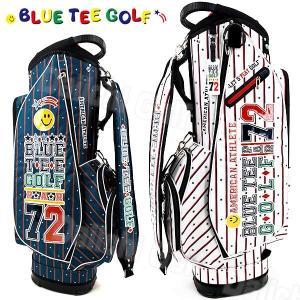 ブルーティーゴルフ 軽量 キャディバッグ ストライプナイロン 9型 BLUE TEE GOLF BTG-CB007|daiichigolf