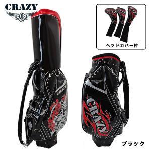 (数量限定モデル)  クレイジー キャディバッグ 9型 ブラック ヘッドカバー付き CRAZY DOKURO 2019 CO1909 daiichigolf