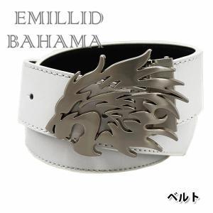 エミリッドバハマ ベルト 本革 リバーシブルAタイプ(獅子)|daiichigolf