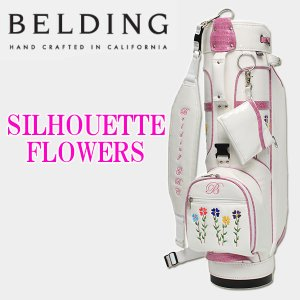 ベルディング キャディバッグ シルエット フラワーズ 8.5型 BELDING SILHOUETTE FLOWERS HBCB-850057|daiichigolf