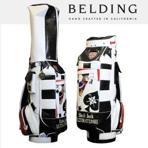 ベルディング キャディバッグ ファットビー ブラック ジャック 9.5型 HBCB-950086|daiichigolf