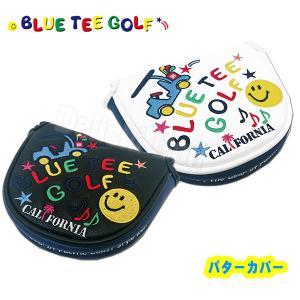 ブルーティーゴルフ スマイル&カート パターカバー マレットタイプ BLUE TEE GOLF HC-012 あすつく|daiichigolf