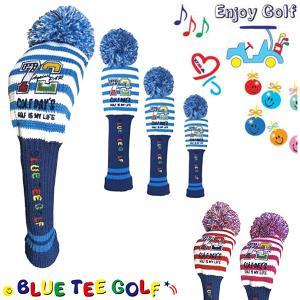 ブルーティーゴルフ ヘッドカバー ニット パー72 ゴルフデイズ (DR・FW・UT用)BLUE TEE GOLF Par72 Golf Day's K-BTG95014|daiichigolf