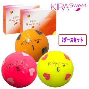 (2ダースセット) キラスウィート ハートマーク入り ゴルフボール KIRA SWEET あすつく|daiichigolf