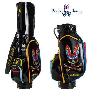 (ポイント10倍)サイコバニー キャディバッグ 9型 モザイクバニー ゴルフバッグ PBMG0FC1 Psycho Bunny MOZAIQUE|daiichigolf