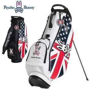 (ポイント10倍)サイコバニー スタンドバッグ 9型 ゴルフ キャディバッグ PBMG0FC3 Psycho Bunny A/A FLAG SPORT|daiichigolf