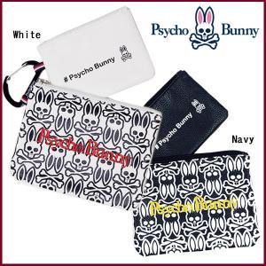 サイコバニー モノグラムポーチ2個セット Psycho Bunny PBMG7FB6 あすつく|daiichigolf