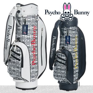 サイコバニー S/Bモノグラム キャディバッグ Psycho Bunny PBMG8SC5|daiichigolf