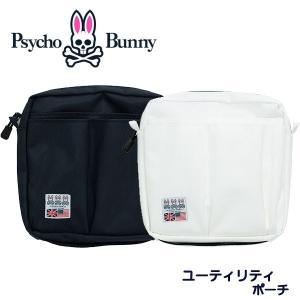 (送料無料)サイコバニー ユーティリティ ポーチ PBMG9SB1 Psycho Bunny WIT S/B UTILITY あすつく|daiichigolf