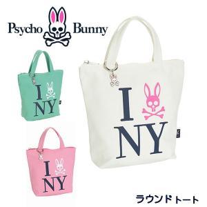 サイコバニー ラウンドトート NYキャンバス PBMG9SE2 Psycho Bunny NY.CANVAS あすつく|daiichigolf