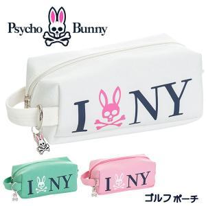 (送料無料)サイコバニー ゴルフポーチ NYキャンバス PBMG9SE3Psycho Bunny NY.CANVAS あすつく|daiichigolf