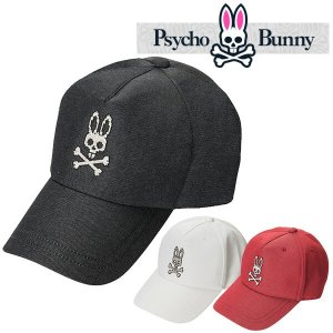 サイコバニー シルバー デニム キャップ 帽子 Psycho Bunny PHMG861F あすつく|daiichigolf
