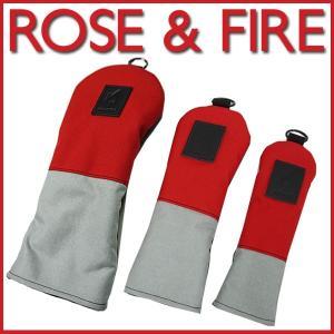 ローズアンドファイアー ヘッドカバー レッド/グレイ/グリーンROSE&FIRE(DR用、FW用、UT用) ※単品販売となります。|daiichigolf
