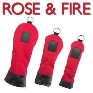ローズアンドファイアー ヘッドカバー レッド/ブラックROSE&FIRE(DR用、FW用、UT用) 送料無料|daiichigolf