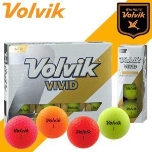 【今なら送料無料!!】 ボルビック【VOLVIK】 ビビッド VIVID ゴルフボール 1ダース(12球)|daiichigolf