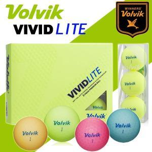 ボルビック ビビッド ライト ゴルフボール VOLVIK VIVID LITE 1ダース(12球) あすつく|daiichigolf