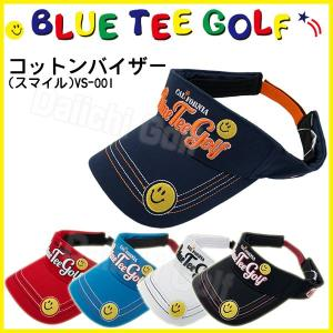 ブルーティーゴルフ コットン バイザー (スマイル) BLUE TEE GOLF VS-001 あすつく|daiichigolf