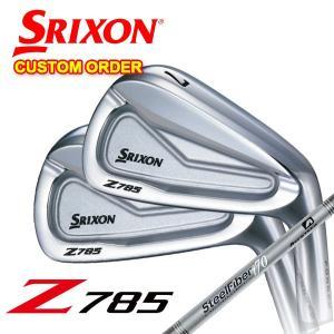 (特注カスタムクラブ) スリクソン(SRIXON) Z785アイアン エアロテック スチールファイバ...