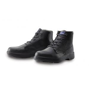 85022 本格仕様の中編上安全靴 天然牛革使用 JIS規格合格品 ミドル XEBEC ジーベック 24.0〜29.0cm セーフティシューズ ワークブーツ|daijirounet