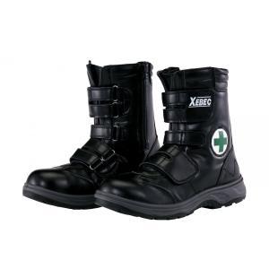 85105 サイドファスナーハイカットセフティシューズ 長マジック ハイバックシューズ XEBEC ジーベック 24.5〜29.0cm セーフティシューズ 安全靴|daijirounet