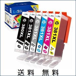 LxTek Canon キヤノン BCI-381 BCI-380 インクカートリッジ 6色セット 3...
