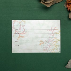 結婚式 ゲストカード(芳名帳) ヤドリギ G-1(10枚)