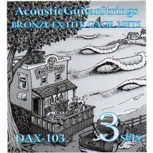 Daikingアコースティックギター弦ブロンズEXライトゲージ3セットパックDAX-103 日本全国送料無料 daikingcorporation