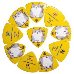 DAP-サバシロTA0.75mm10枚SET サバシロ猫三角0.75mmのピック×10枚のセットです。|daikingcorporation