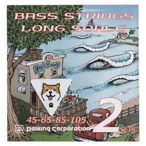 DaikingDAB-452&SIBA-BASSピックセット ベース弦が2セットと柴犬ベースピックが1枚入ったセットです。|daikingcorporation