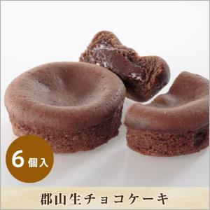 郡山 生チョコケーキ 6個入   菓子/チョコレート/ギフト/贈答品/金菓賞受賞/福島/父の日/お祝い/お土産|daikokuy