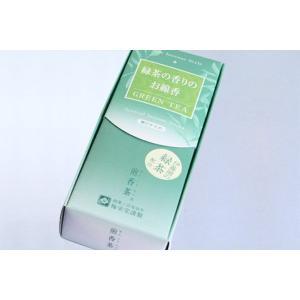 線香 梅栄堂 煎香茶 緑茶の香りの線香|daikokuya-b