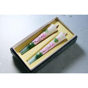 和蝋燭 手描き和ろうそく 仏様の花 蓮(はす) 3号|daikokuya-b