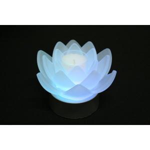 進物 ギフト ペガサスキャンドル ロータスグレイス(フロスト) LED電装ガラスホルダ付|daikokuya-b