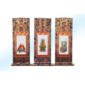中金掛軸 掛軸 臨済宗妙心寺派用ご本尊脇侍セット30代 daikokuya-b