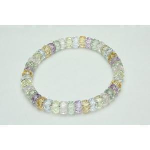 数珠 パワーストーン ブレスレット 腕輪数珠 ミックスクオーツ 筒型切子 限定品|daikokuya-b