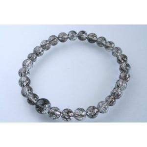 数珠 パワーストーン ブレスレット 腕輪数珠 黒線水晶 ブラックルチル 限定品|daikokuya-b