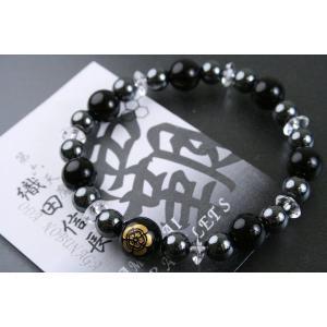 数珠 ブレス パワーストーンブレスレット 戦国武将ブレスレット 織田信長|daikokuya-b