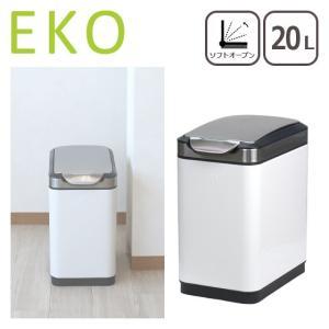 EKO ゴミ箱 20L ティナ タッチビン ホワイト ダストボックス|daily-3