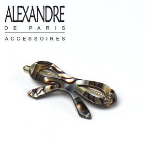 アレクサンドルドゥパリ ヘアピン ミニリボン オニキス Alexandre de Paris|daily-3