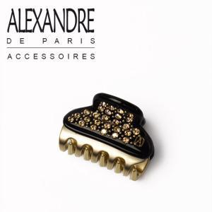アレクサンドルドゥパリ ヘアクリップ VENDOME ブラック・ゴールド Alexandre de Paris|daily-3