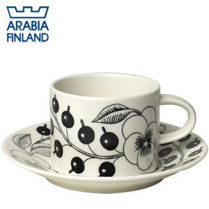 アラビア ブラックパラティッシ ティーカップ&ソーサー