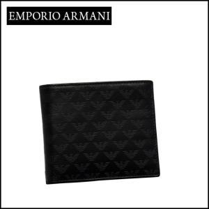 エンポリオ・アルマーニ 二つ折り財布小銭入れ付き YEM122 YC043 ブラック daily-3