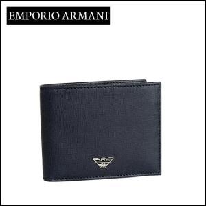 エンポリオアルマーニ 二つ折り財布小銭入れ付き YEM122 YC91E ネイビーブルー daily-3