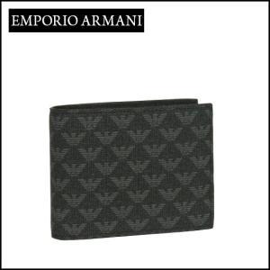 エンポリオアルマーニ (Emporio Armani) 二つ折り財布小銭入れ付き Y4R065 YO23J ブラック daily-3