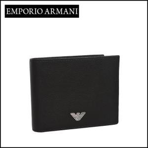 エンポリオアルマーニ (Emporio Armani) 二つ折り財布小銭入れ付き YEM122 YAQ2E ブラック|daily-3