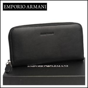 エンポリオ・アルマーニ ラウンドファスナー長財布 YEME49 YC042 ブラック daily-3
