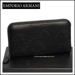 エンポリオ・アルマーニ ラウンドファスナー長財布 YEME49 YH187 ブラック daily-3