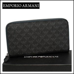 エンポリオ・アルマーニ ラウンドファスナー長財布 YEME49 YH606 ブラック daily-3
