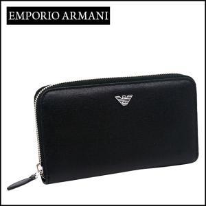 エンポリオ・アルマーニ ラウンドファスナー長財布 YEME49 YC91E ブラック daily-3